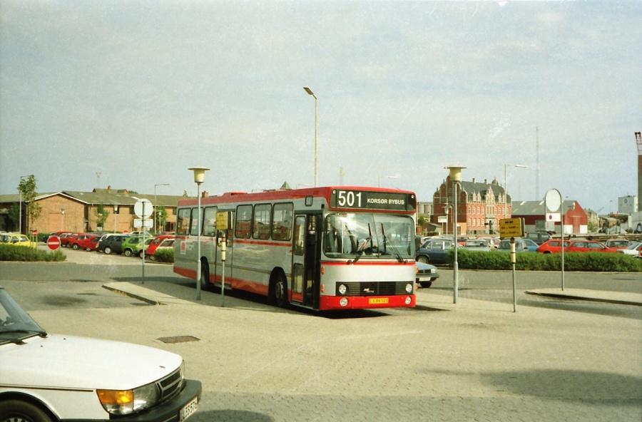 Korsør Bybusser 3/LS89503 i Korsør i juli 1990