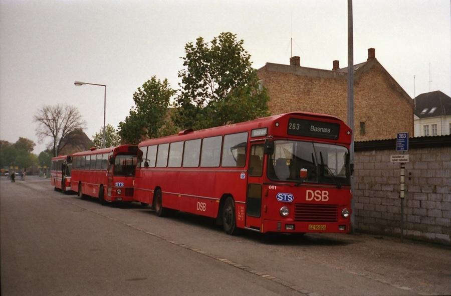 DSB 661/EZ96806 i Næstved i oktober 1988