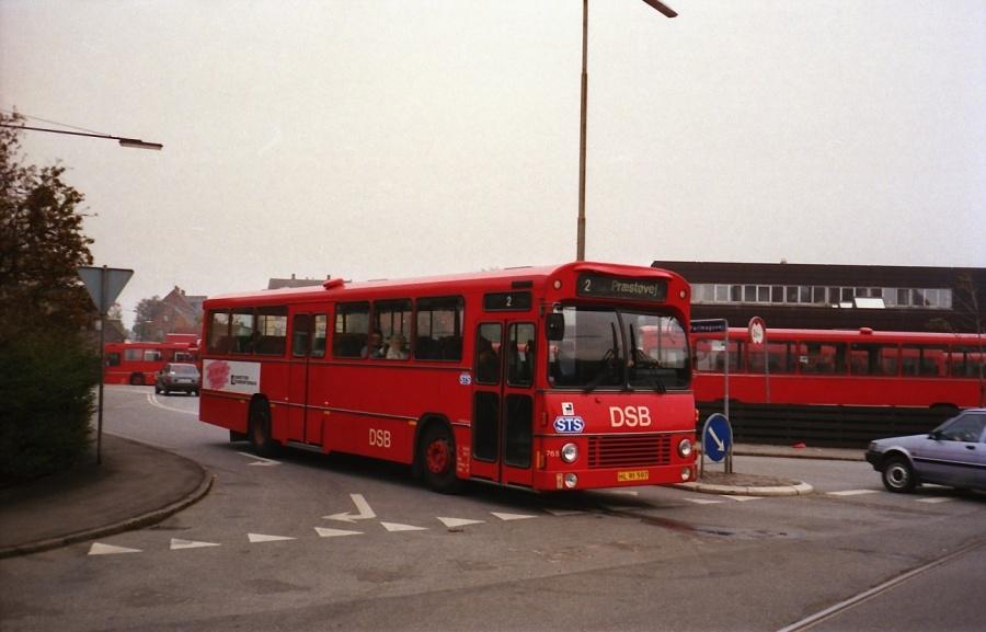 DSB 765/HL91597 i Næstved i oktober 1988