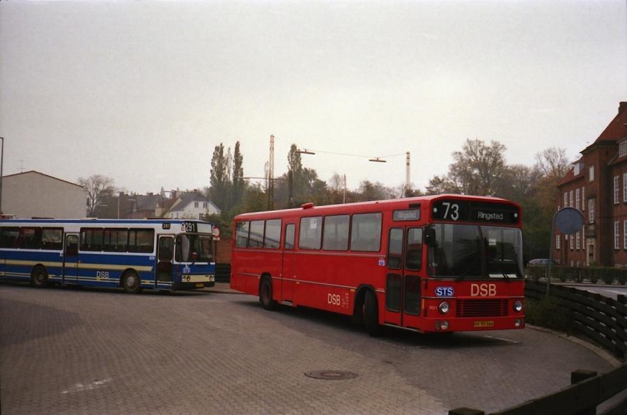 DSB 901/HY95566 i Næstved i oktober 1988