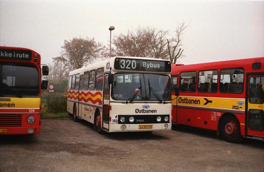 Østbanen 140/LJ97113 i Hårlev i oktober 1988