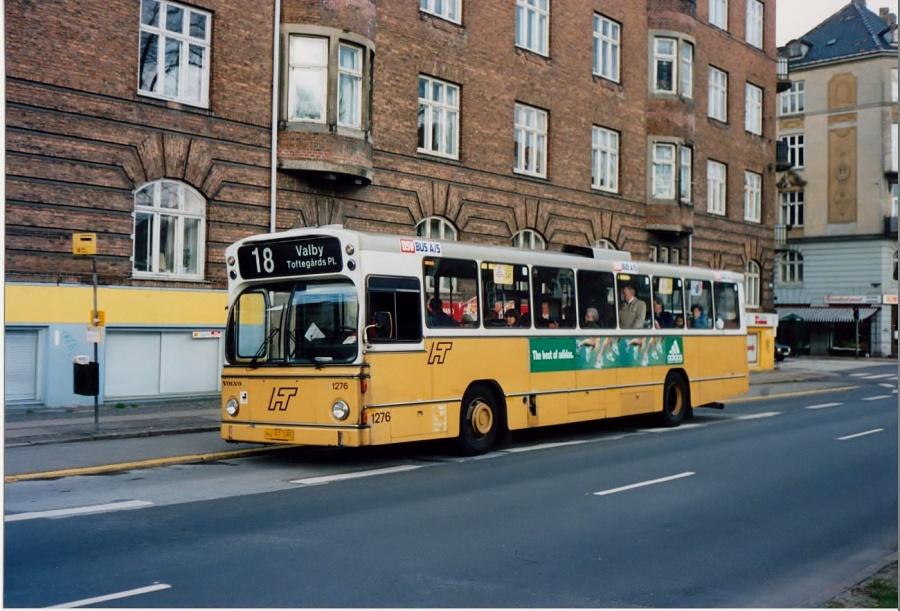 DSV Bus 1276/HJ97385 på Jagtvej i København i 1992