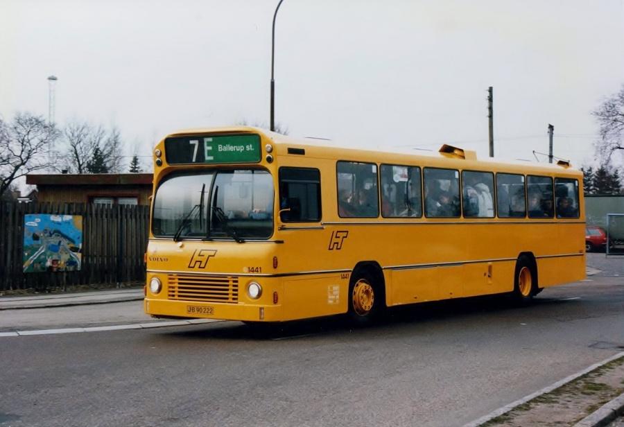 HT 1441/JB90222 på Stationsalleen i Herlev i februar 1992