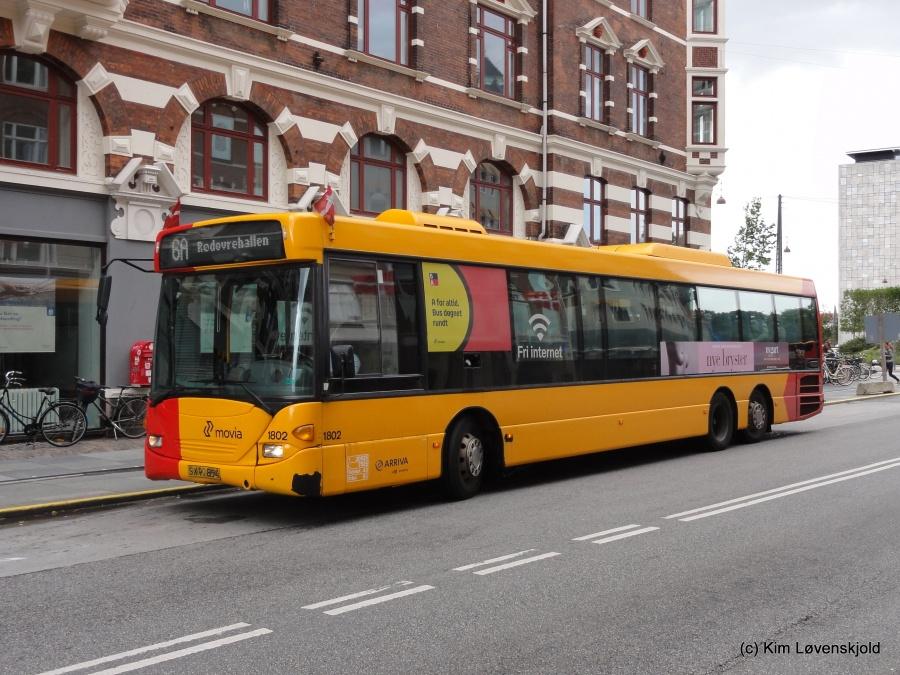 Arriva 1802/SX90854 i Vester Voldgade i København den 5. september 2015