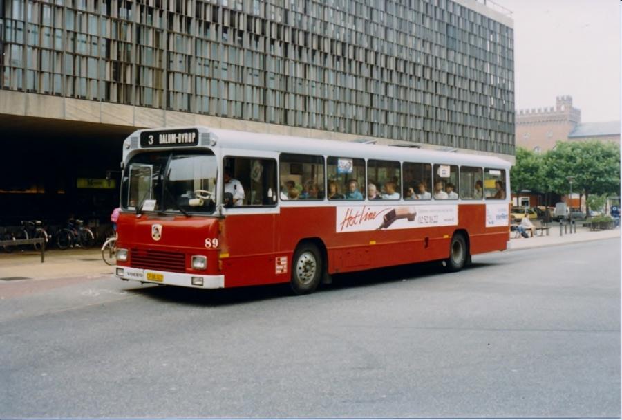 Odense Bytrafik 89/CP88027 på Klingenberg i Odense den 4. september 1987