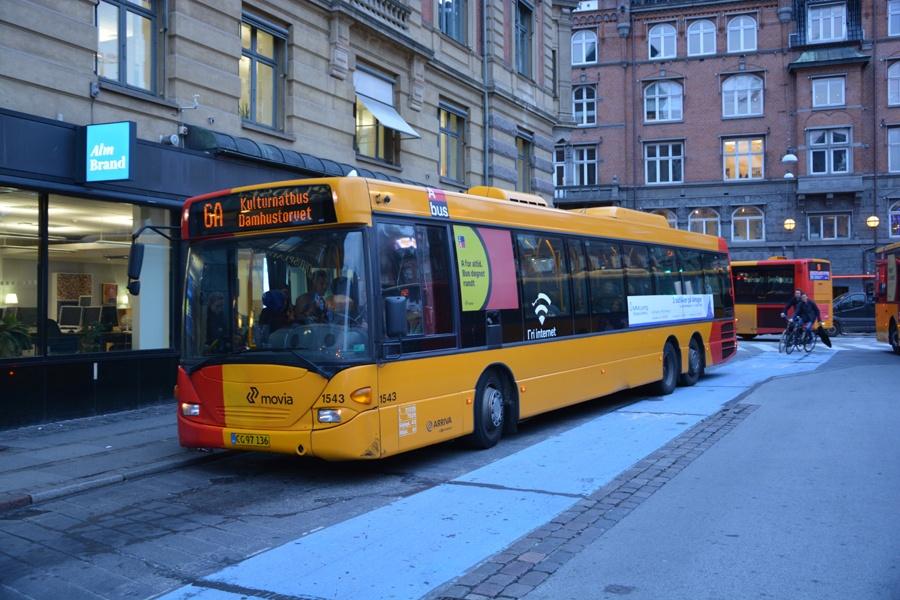 Arriva 1543/CG97136 på Rådhuspladsen i København den 9. oktober 2015