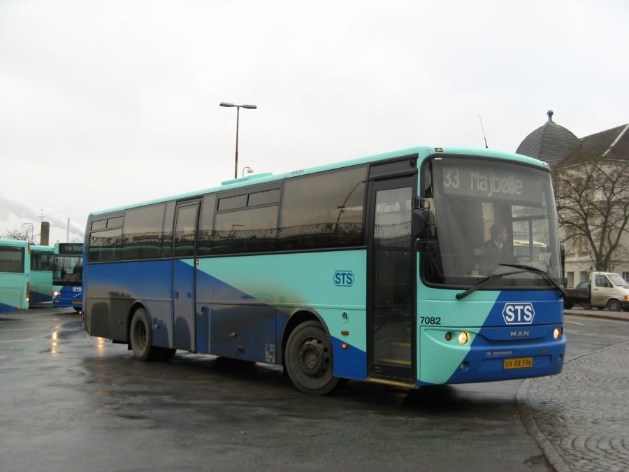 Arriva 7082/SX88396 på Nykøbing F. St. den 29. november 2006