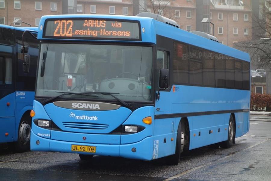 Umove 623/UL92103 på Vejle Trafikcenter den 24. januar 2016