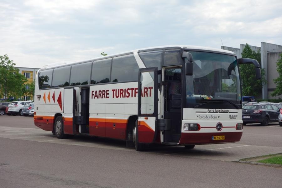 Farre Turistbusser AF96754 på Willy Sørensens Plads i Vejle den 1. juni 2016