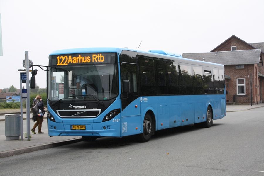 Arriva 3157/AG70078 på Grenaa Trafikterminal den 12. august 2016
