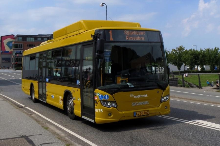 Tide Bus 8776/AV50166 i Silkeborg den 22. juli 2016
