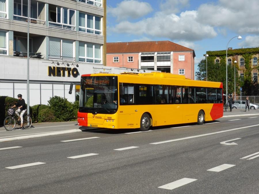 Arriva 1998/BA94925 på Holbækvej i Roskilde den 16. august 2016