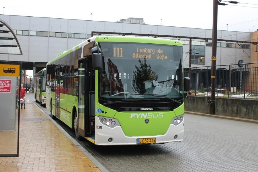 Tide Bus 8309/BC82445 på Odense Banegård Center den 19. oktober 2016