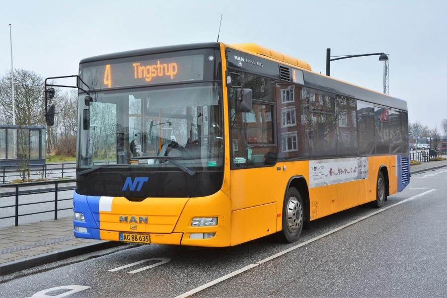Arriva 3053/AG86635 på Thisted Station den 10. januar 2017