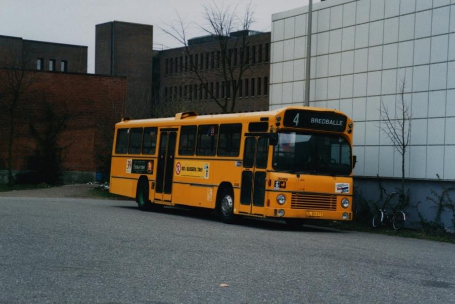Bus Danmark 3049/OL89973 på Vejle banegård den 31. marts 1998