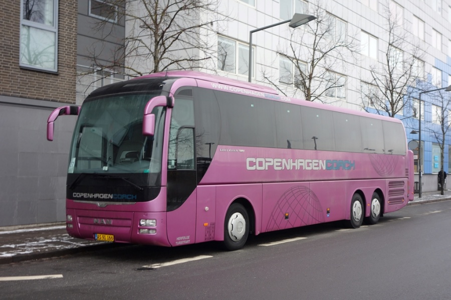 Copenhagen Coach AS91166 på Vejle Trafikcenter den 10. februar 2017