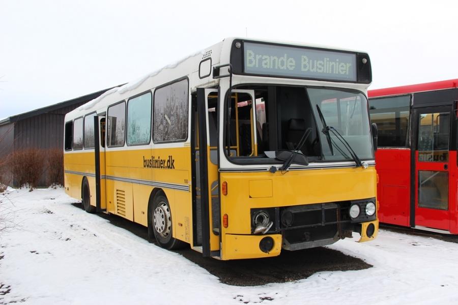 Brande Buslinier 100 ved Dansk Bus Renovering i Tørring den 12. februar 2017