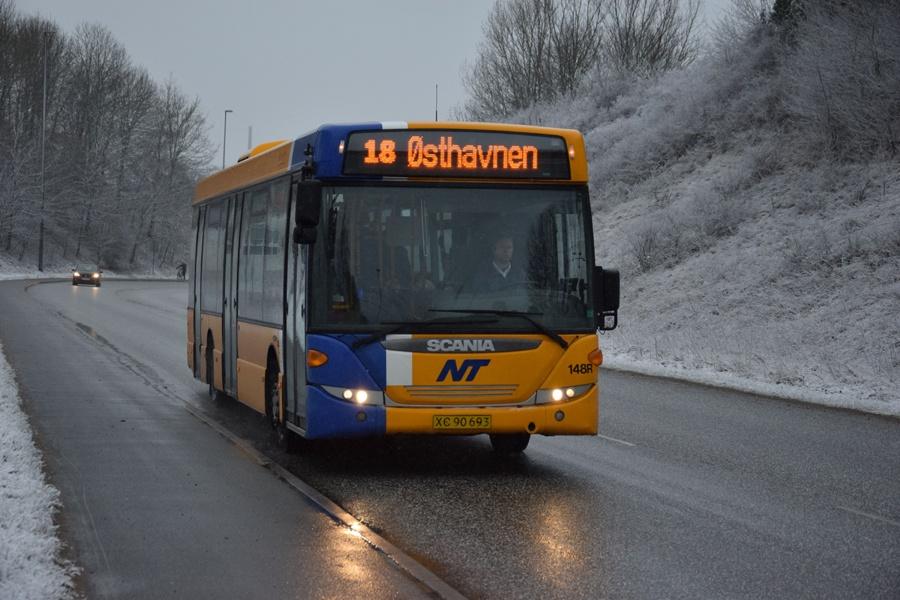 Keolis 148/XC90693 på Øster Uttrupvej i Aalborg den 6. marts 2017