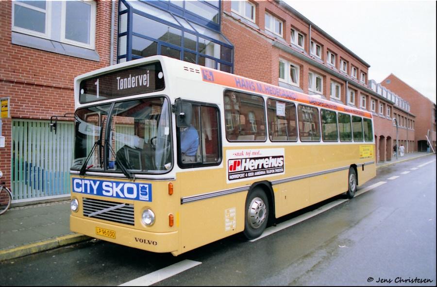 Aabenraa Byomnibusser LP96030 på Madevej i Aabemraa den 23. oktober 1989