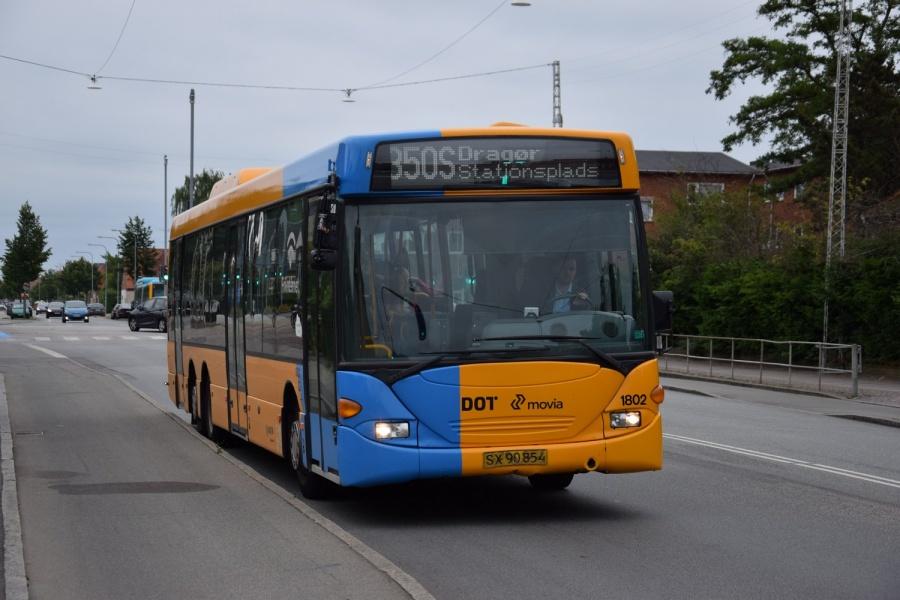 Arriva 1802/SX90854 på Tårnbyvej i Tårnby den 29. juni 2017