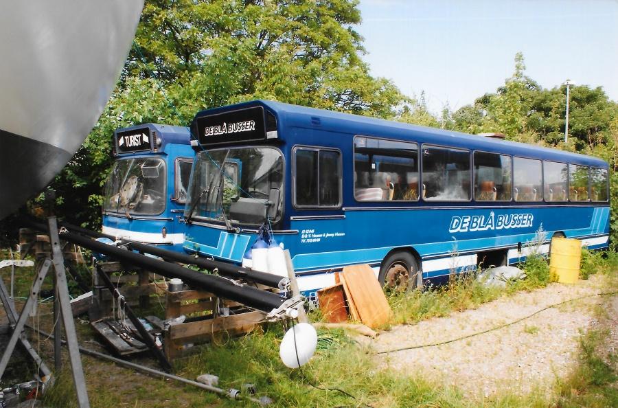 De Blå Busser i garagen i Esbjerg