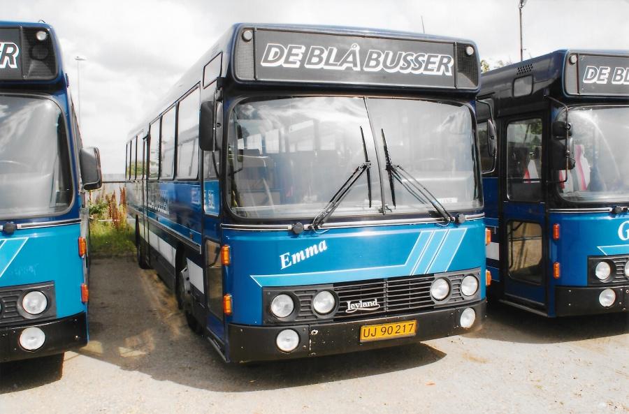 De Blå Busser UJ90217 i garagen i Esbjerg