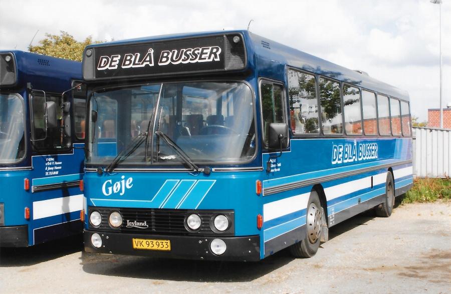 De Blå Busser VK93933 i garagen i Esbjerg