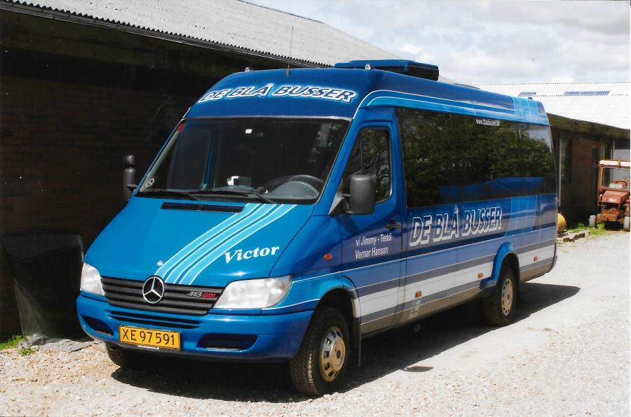 De Blå Busser XE97591 i garagen i Esbjerg