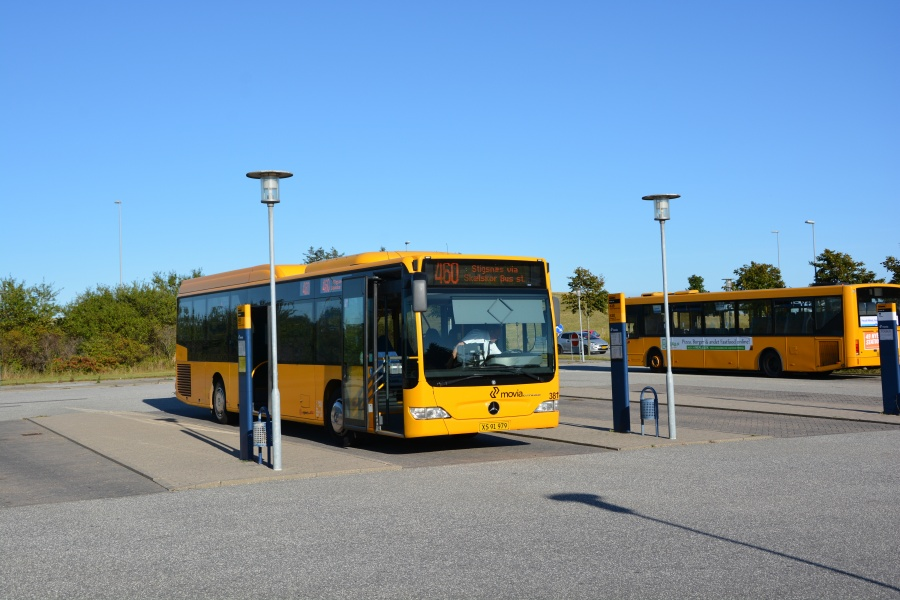 Egons Turist- og Minibusser 3811/XN 91 979 på Korsør Station den 27. august 2016