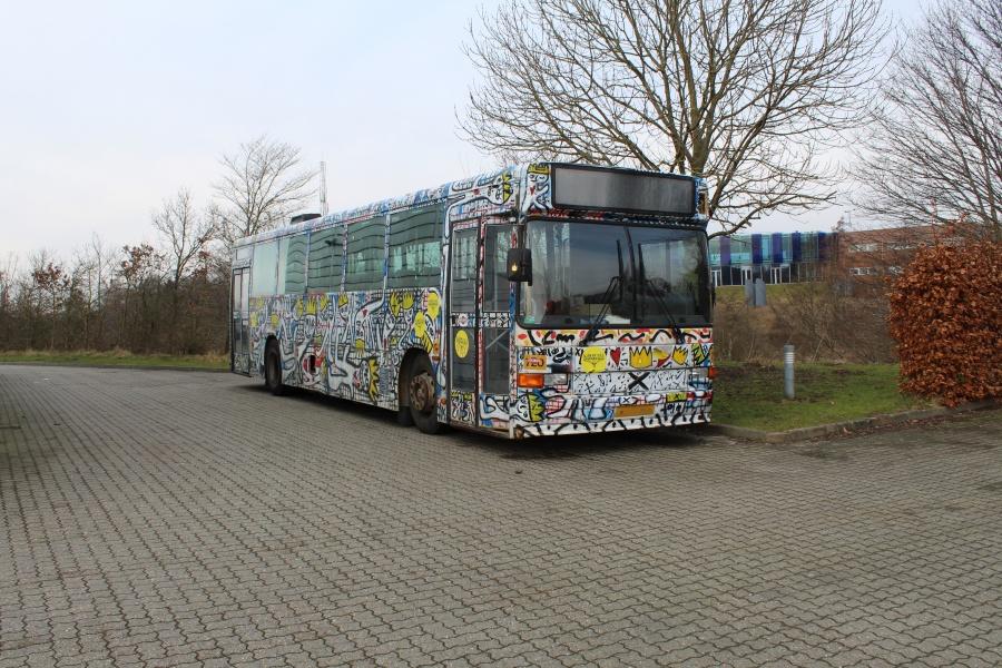 Solibus ved Bus Center Vest i Kolding den 18. februar 2018