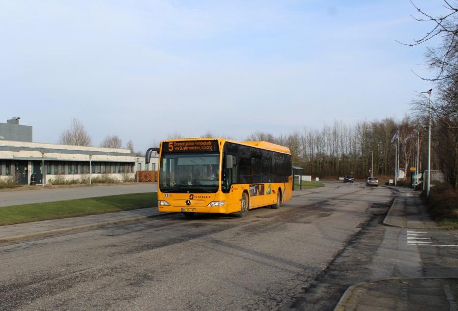 Tide Bus 8714/DF96140 på C.F. Tietgensvej i Kolding den 18. februar 2018