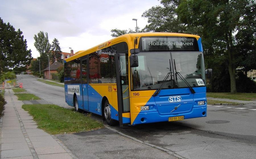 Østtrafik 196/TD91338 i Hollænderhaven i Vordingborg den 15. september 2005