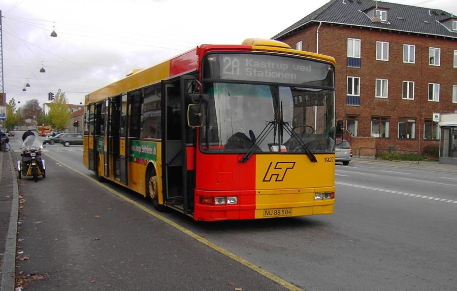 Arriva 1927/NU88584 på Godthåbsvej på Frederiksberg den 10. november 2007