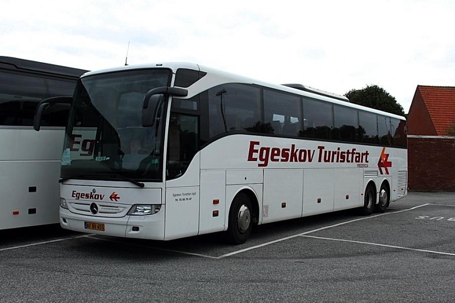 Egeskov Turistfart 6/AF89455 ved Dan Hostel i Ribe den 10. august 2017