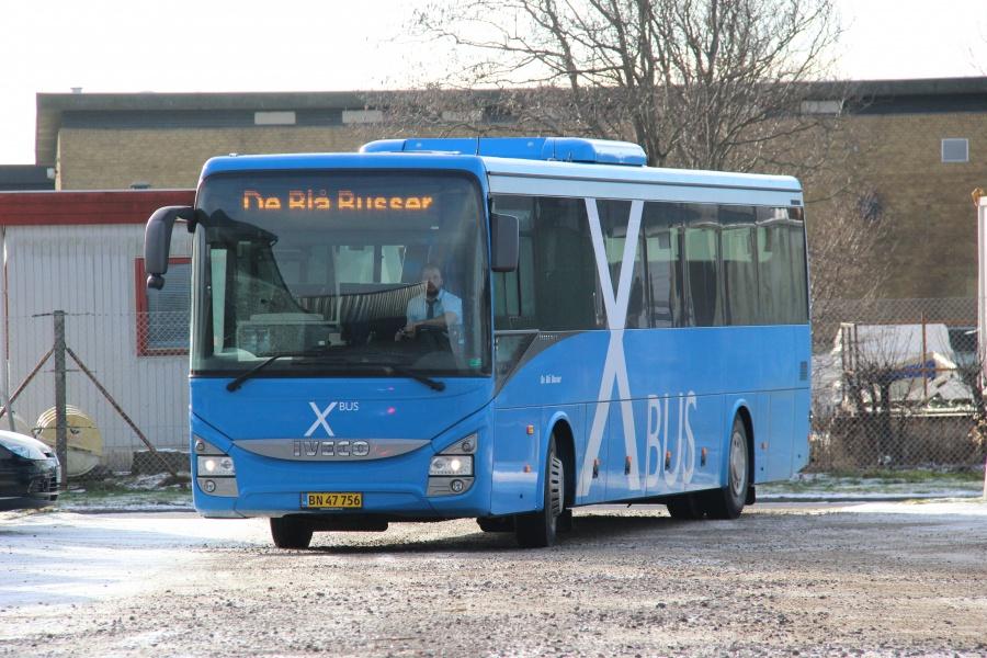 De Blå Busser 106/BN47756 i Esbjerg den 7. februar 2018