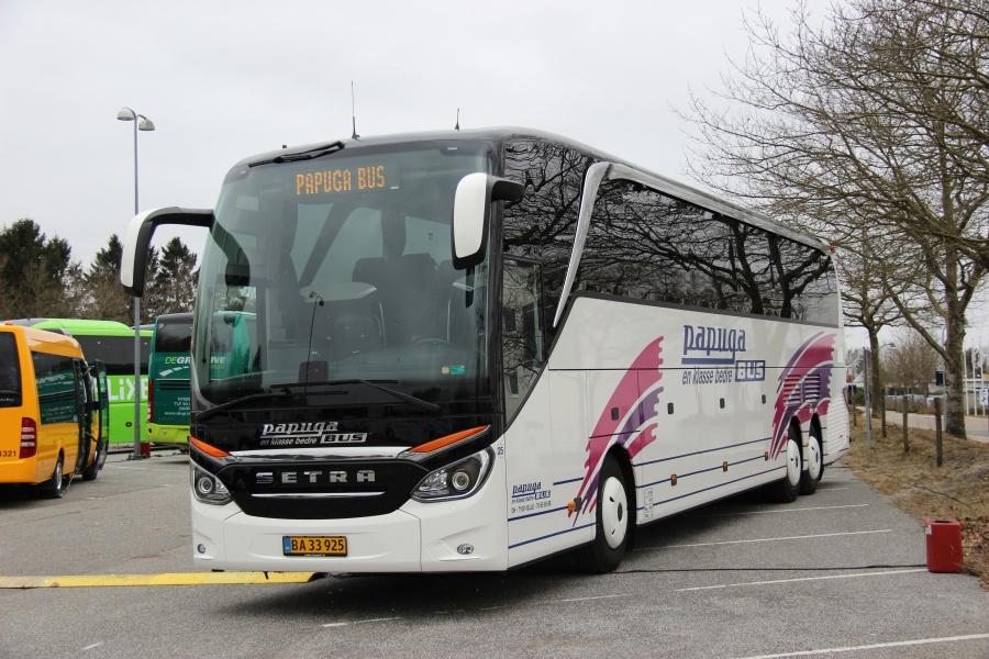 Papuga Bus 25/BA33925 i Billund den 16. marts 2018