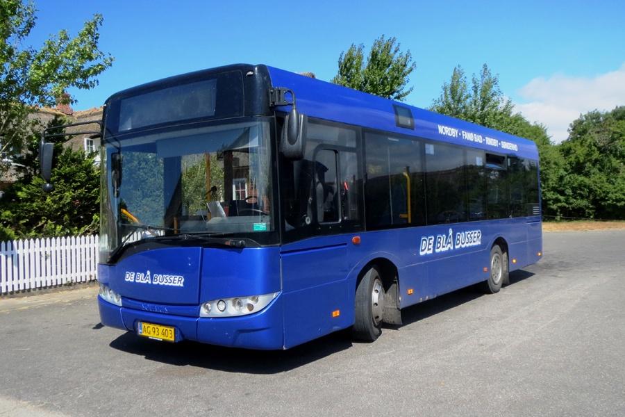De Blå Busser AG93403 i Sønderho den 18. juli 2018