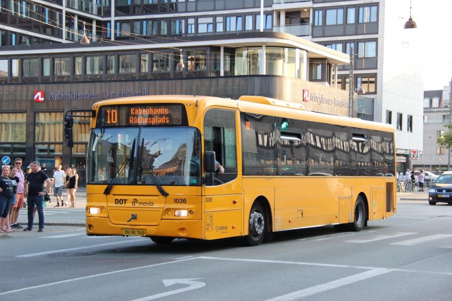 Arriva 1036/XN90760 på Vesterbrogade i København den 25. juli 2018