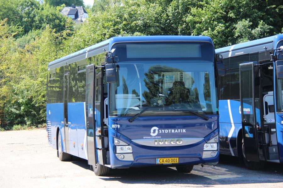 Tide Bus 8278/CA40001 på Ibæk Strandvej i Vejle den 30. juni 2018