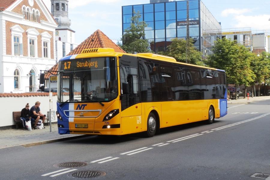 Keolis 726/BX55189 i Vingaardsgade i Aalborg den 9. august 2018