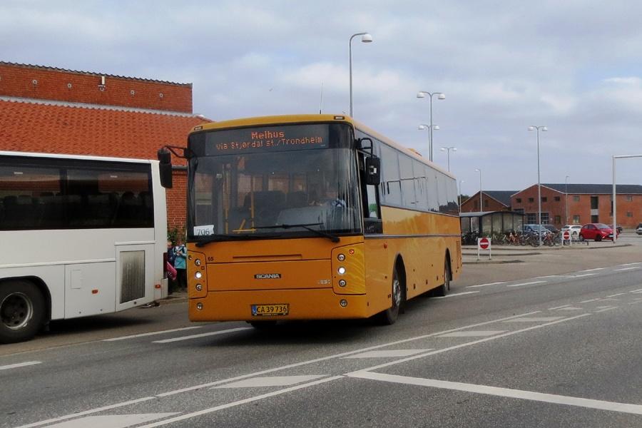 Morsø Bustrafik 74/CA39736 i Nykøbing Mors den 3. september 2018