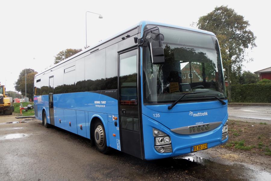 Brande Buslinier 135/BE80119 i Ringkøbing den 8. september 2018