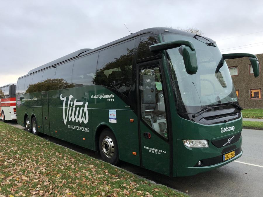 Gadstrup Bustrafik BN22860 på Sintrupvej i Brabrand den 31. oktober 2018