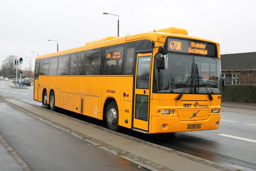 Ditobus 4626/UX95750 på Vestre Ringgade i Slagelse den 30. november 2018