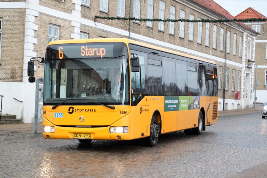 Tide Bus 8691/XD91273 på Nørregade i Haderslev den 1. december 2018