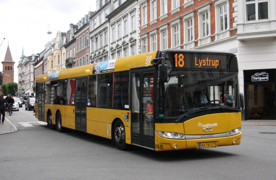 Århus Sporveje 685/AH78577 i M. P. Bruuns Gade i Århus den 28. august 2018