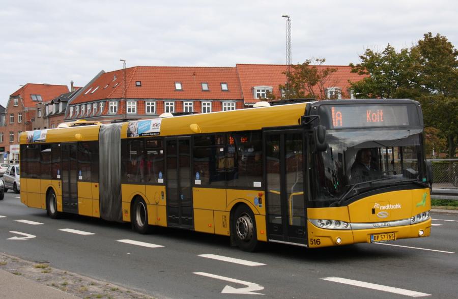 Århus Sporveje 516/BP57765 på Viby Torv i Viby den 28. august 2018