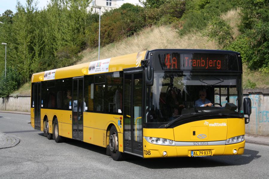 Århus Sporveje 708/AL79837 på Holme Ringvej i Viby den 25. august 2018