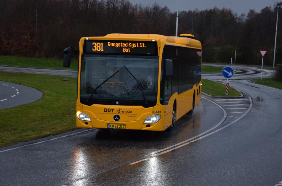 Nobina 6413/CB82217 i Grønnegade i Grønnegade den 8. december 2018