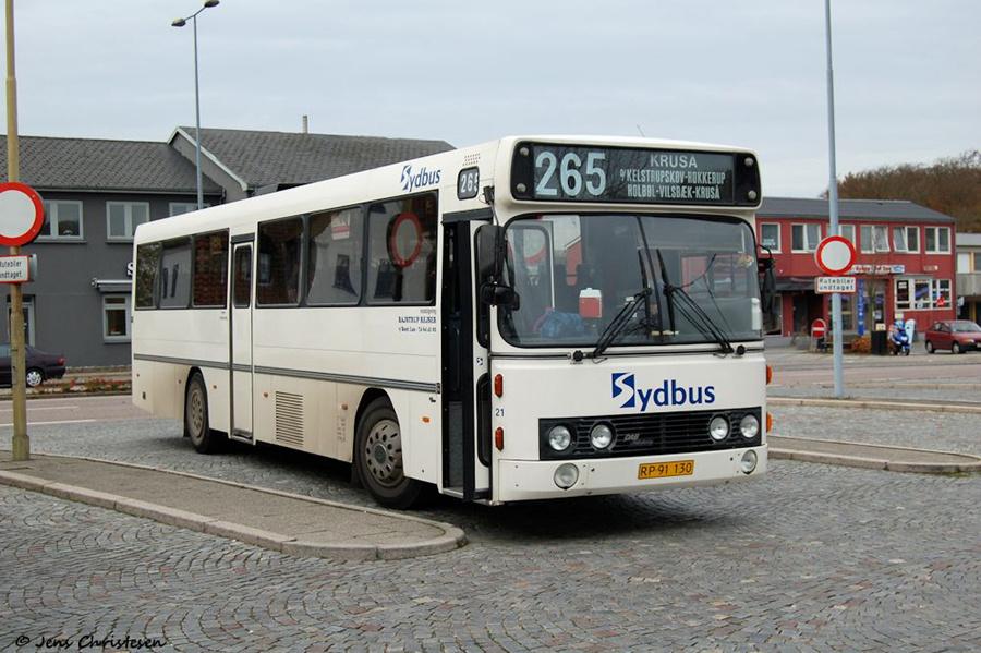 Bajstrup Rejser 21/RP91130 på Kruså Rutebilstation den 10. november 2005